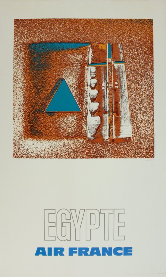 1139: 1971 Pages Air France: Egypte Poster