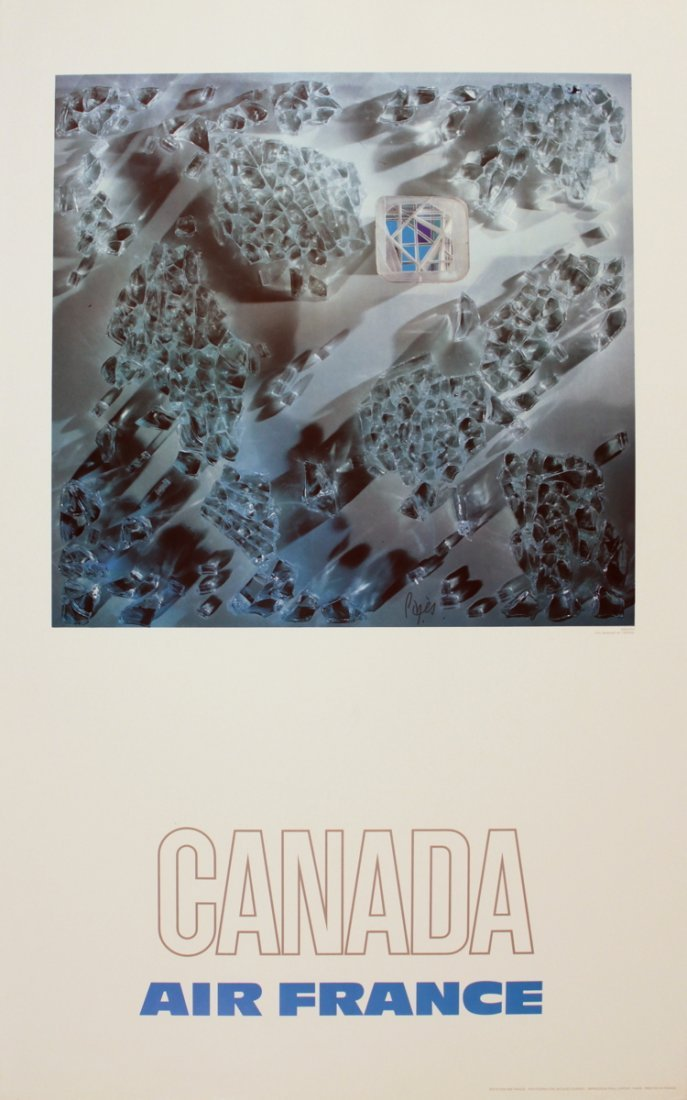 1140: 1971 Pages Air France: Canada Poster