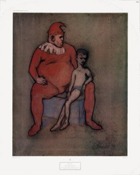 Picasso Harlequin And Boy Poster