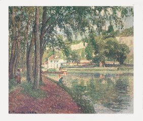 Pissarro The Towpath Poster