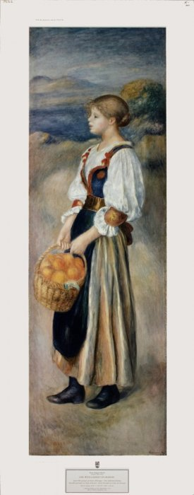 Renoir Girl With A Basket Of Oranges Poster