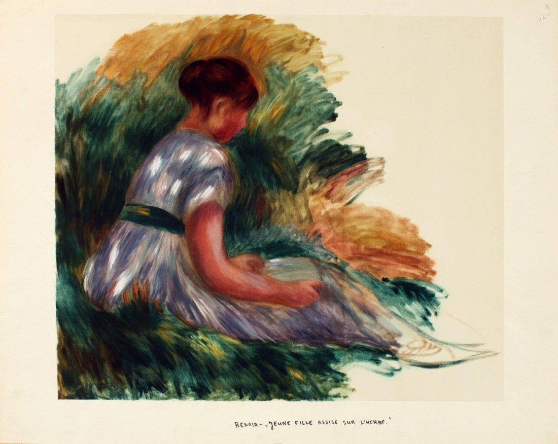 1196: Renoir Jeune Femme Assise Dans L'Herbe Lithograph