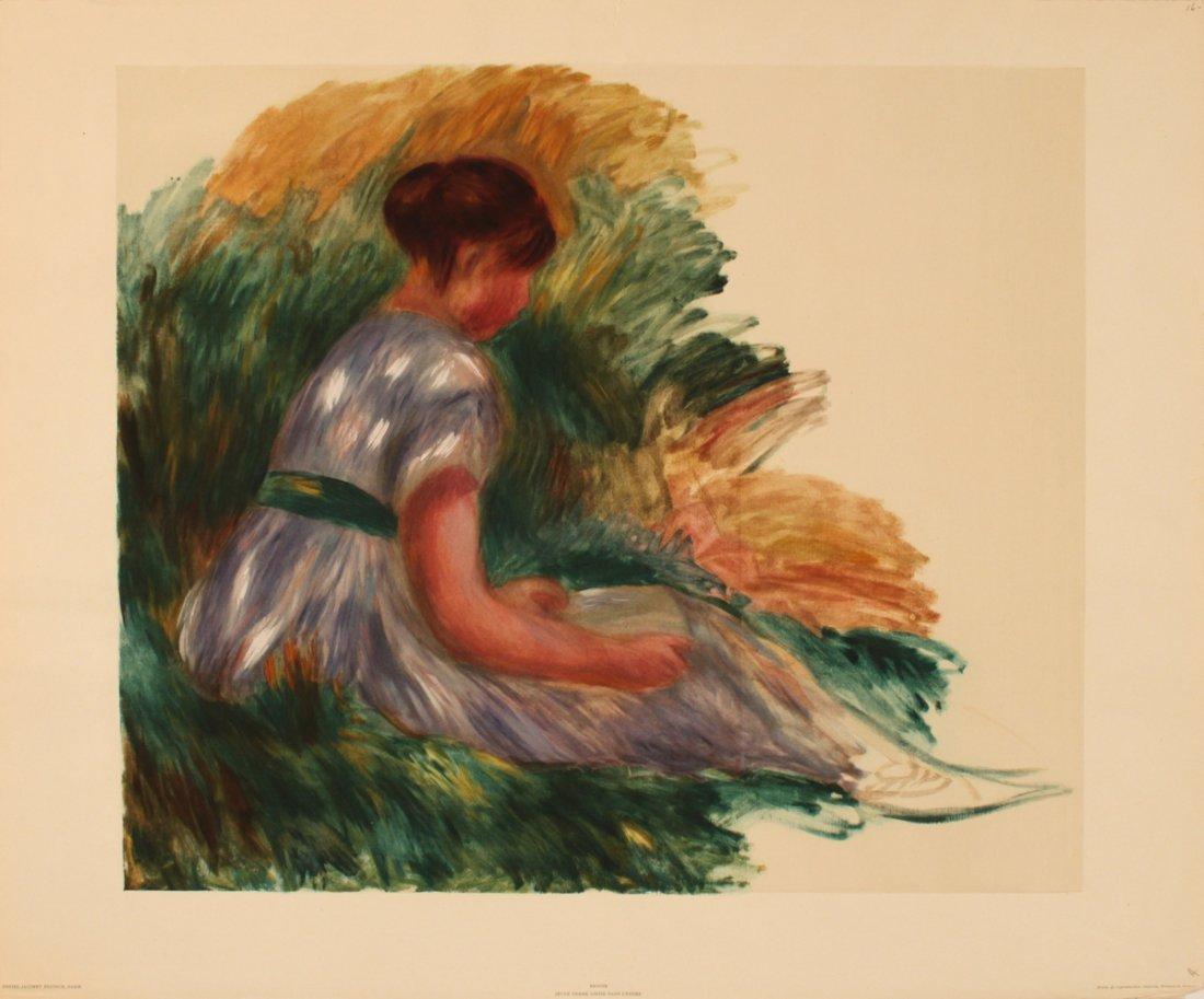 1197: Renoir Jeune Femme Assise Dans L'Herbe Lithograph