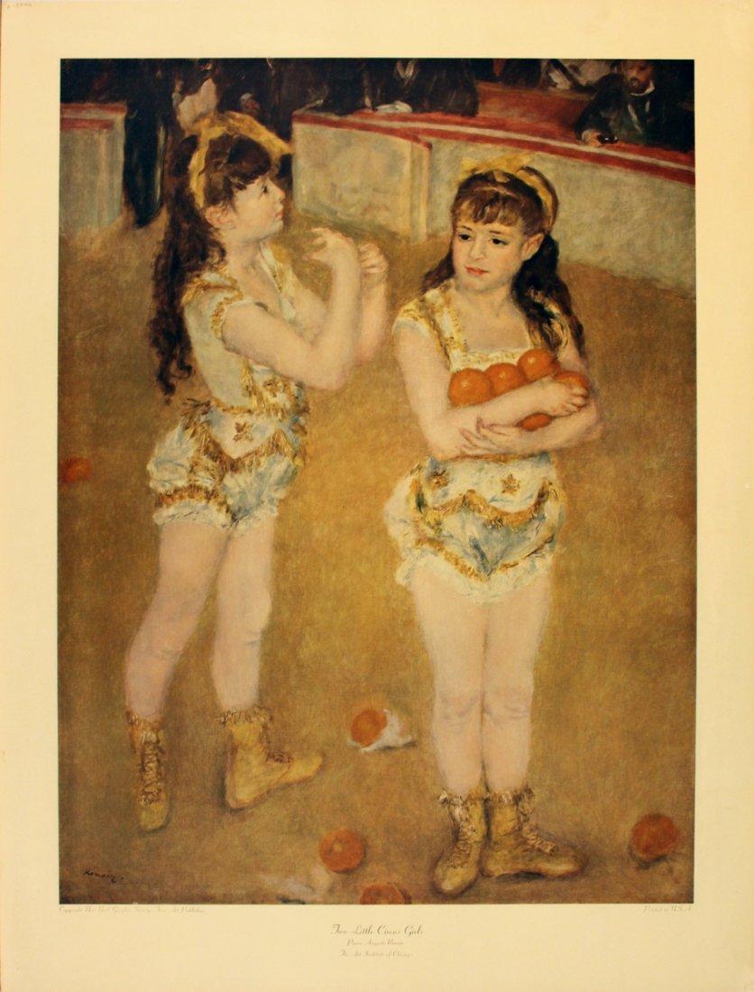 1198: Renoir Two Little Circus Girls Poster