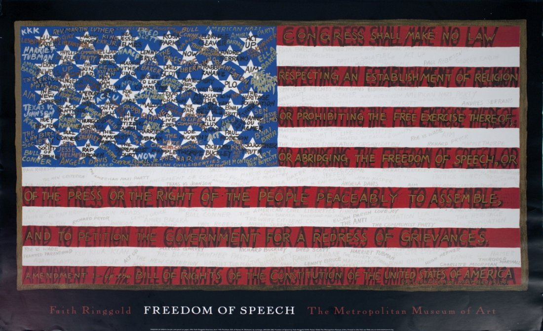1202: 2002 Ringgold Freedom of Speech Poster