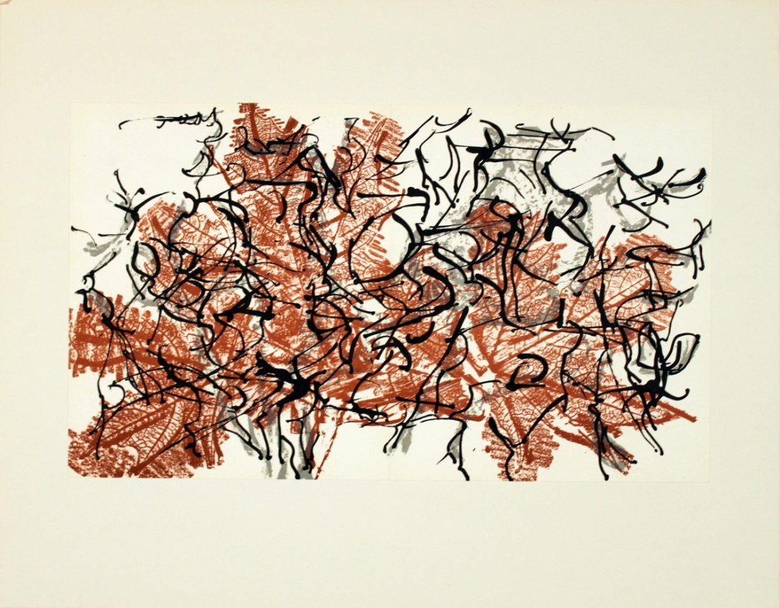 1204: Riopelle Untitled Lithograph
