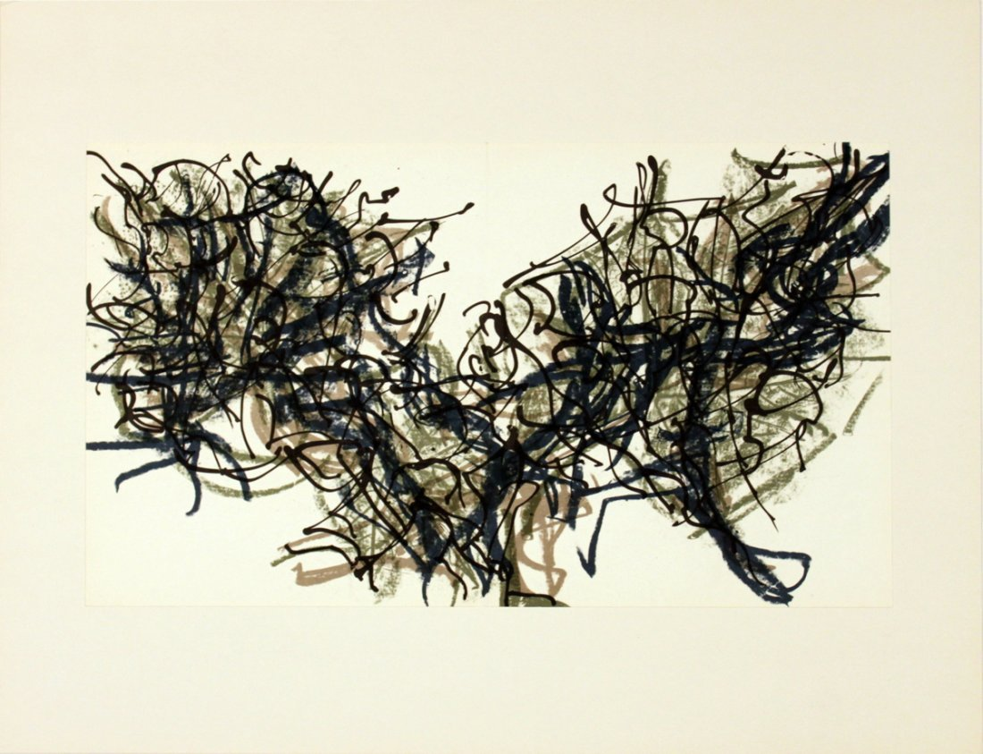 1206: Riopelle Untitled Lithograph