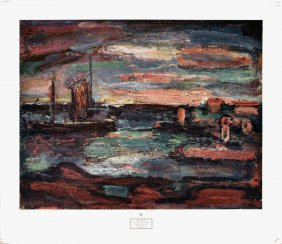 Rouault Afterglow, Galilee Poster