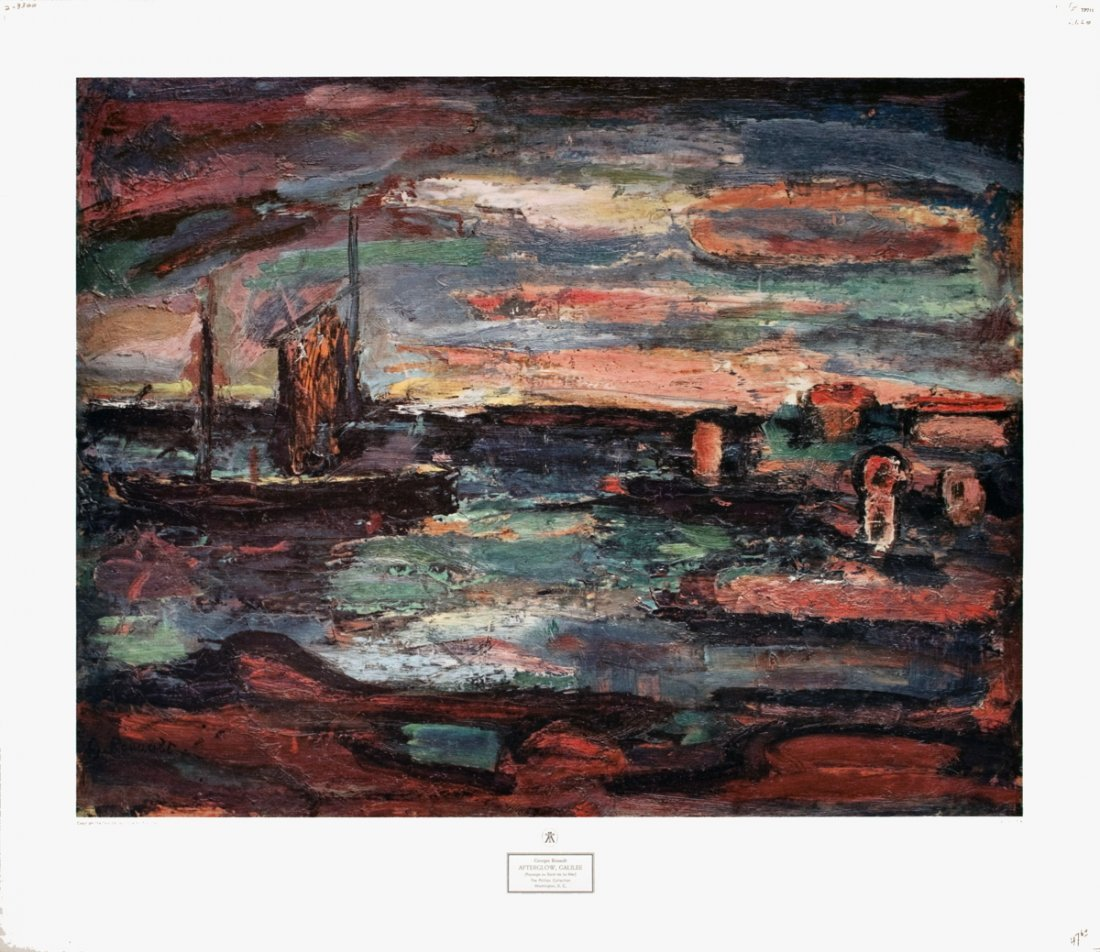 1212: Rouault Afterglow, Galilee Poster