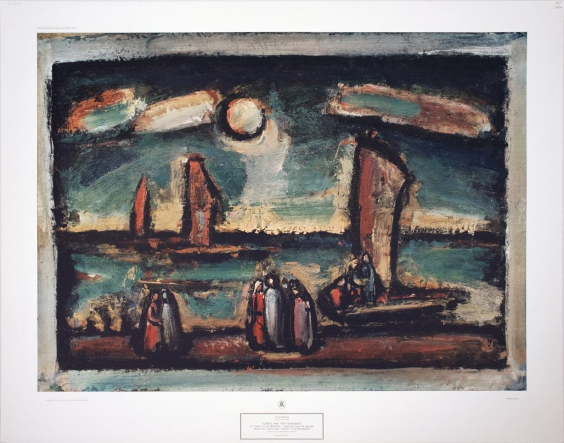 1214: Rouault Christ and the Fishermen Poster