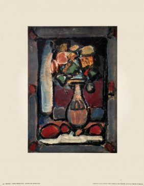Rouault Flowers For Decoration Poster