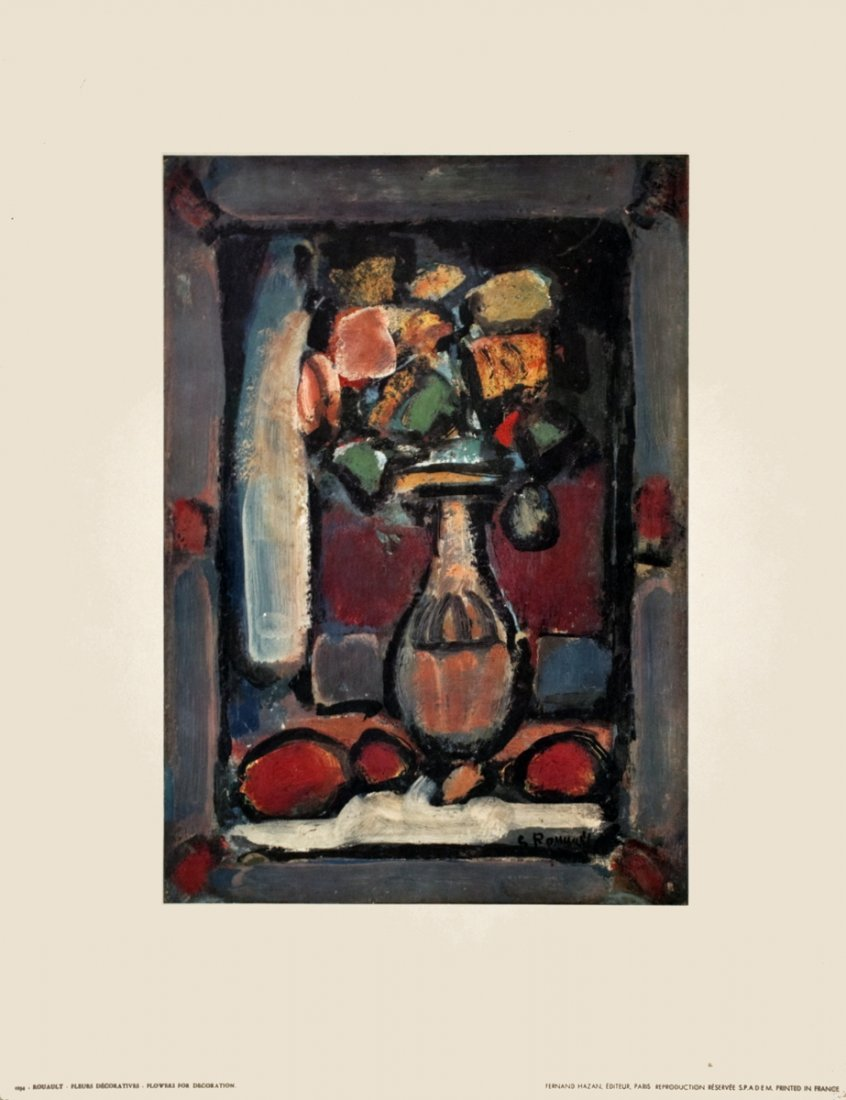 1215: Rouault Flowers for Decoration Poster