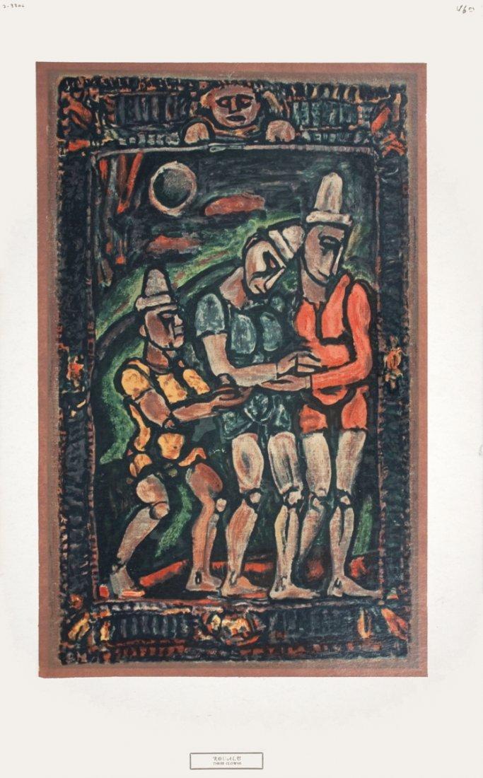 1217: Rouault Three Clowns Serigraph
