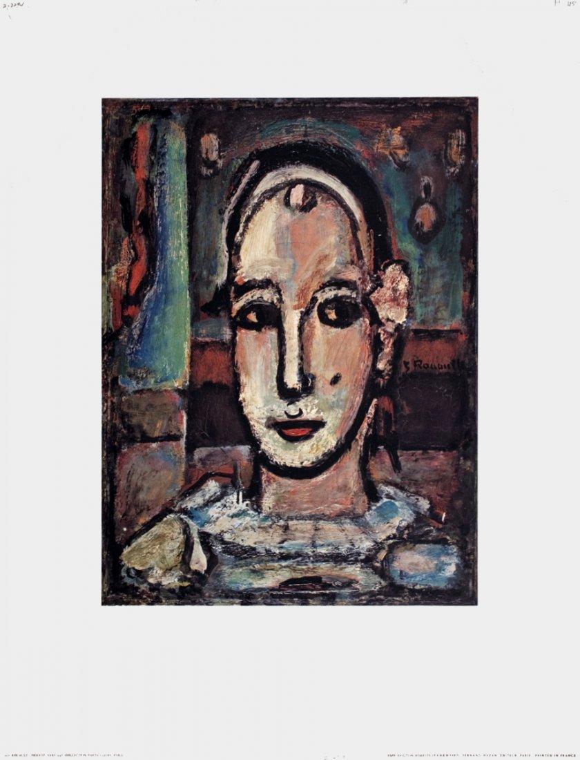 1218: Rouault Pierrot Vers Poster