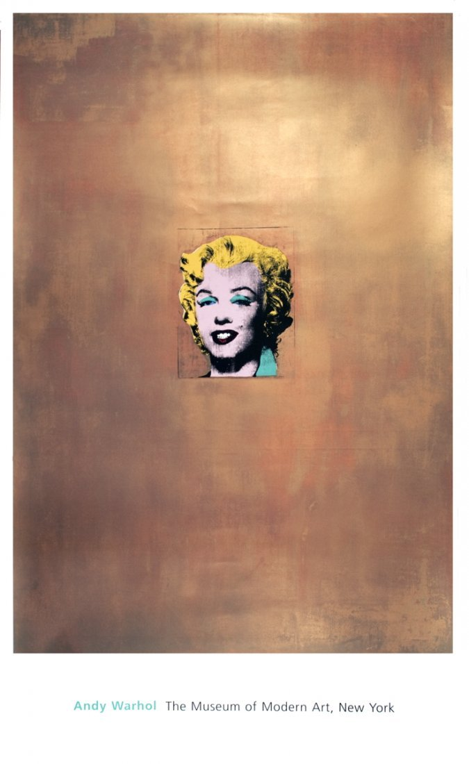 1251: 1999 Warhol Gold Marilyn Monroe Poster