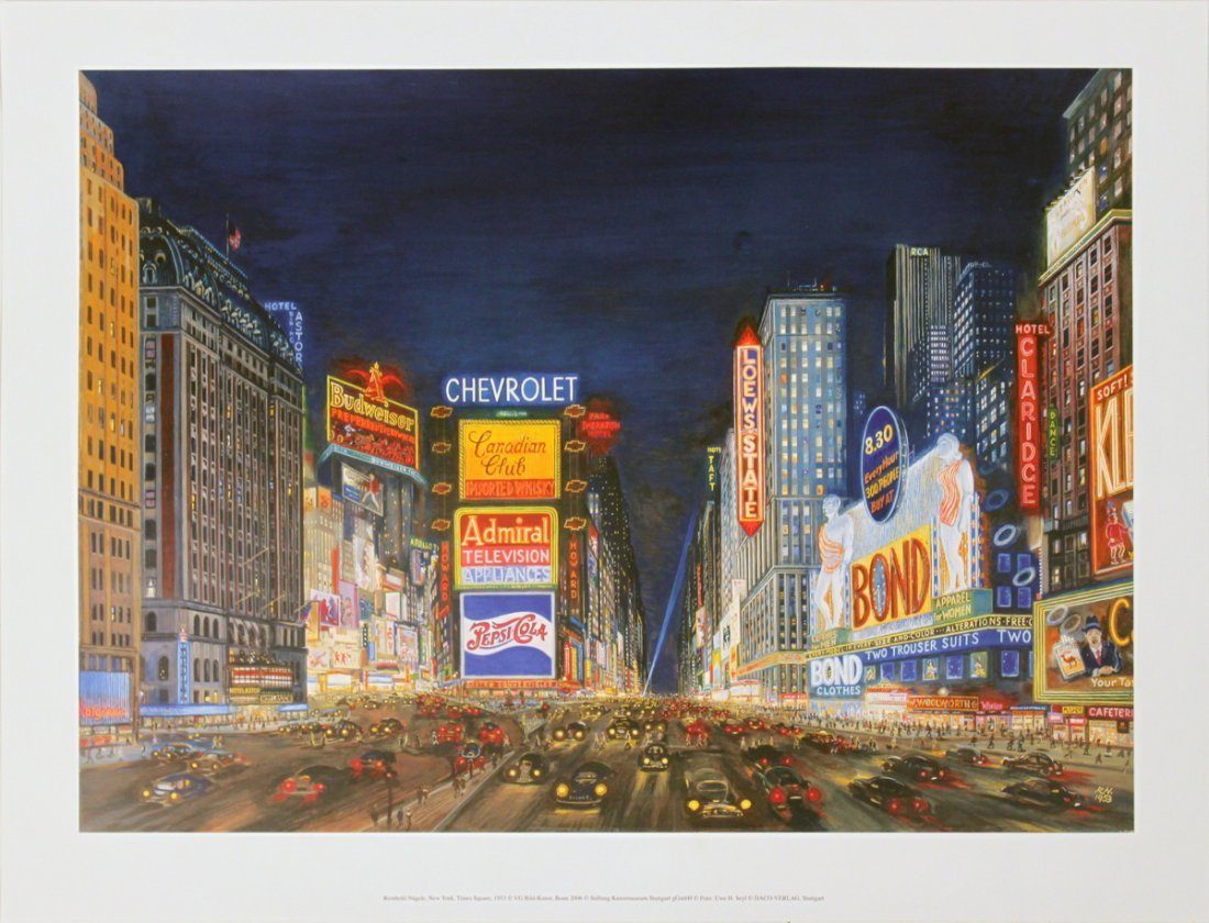 1256: Naegele New York, Times Square Poster