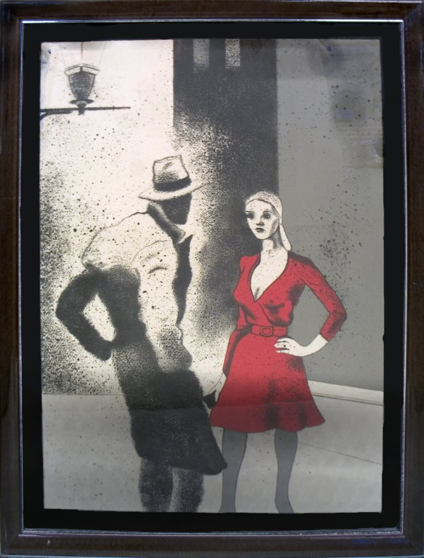 1266: Signed Kitaj Woman of the People Lithograph