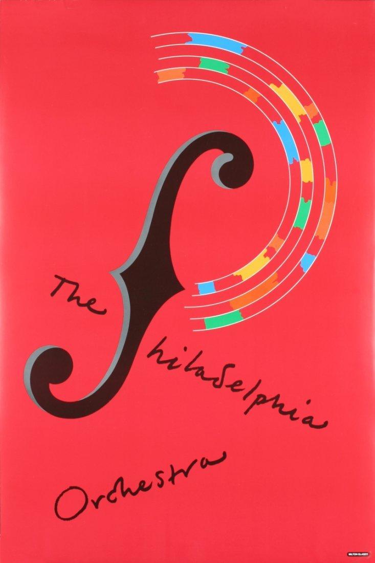 1008: 5 Glaser 1980 Philadelphia Orchestra Posters