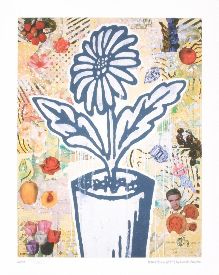 1010: 2007 Baechler Potted Flower Giclee