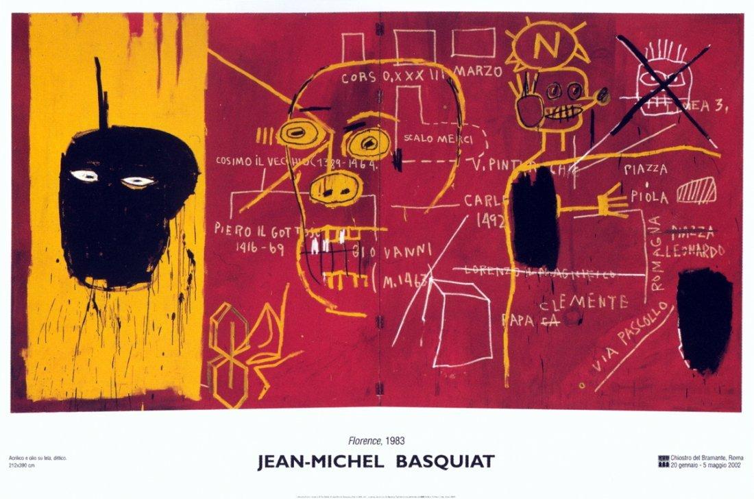 1015: Basquiat Florence Poster