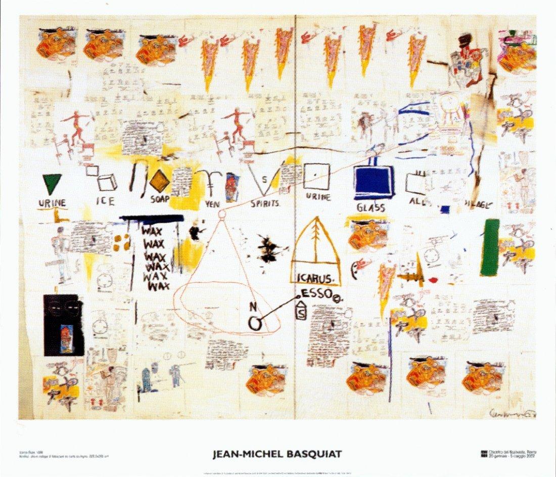 1016: Basquiat Icarus Esso Poster