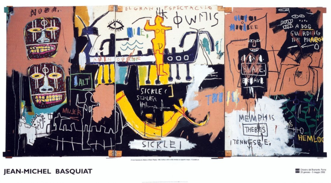 1019: Basquiat History of Black People Poster