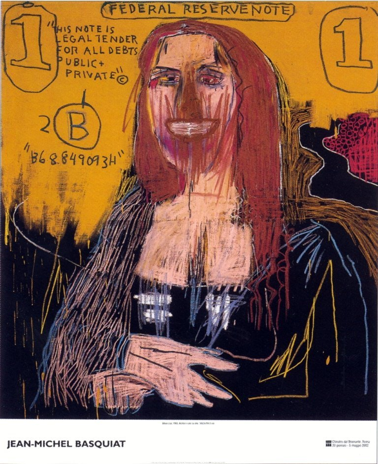1020: Basquiat Mona Lisa Poster