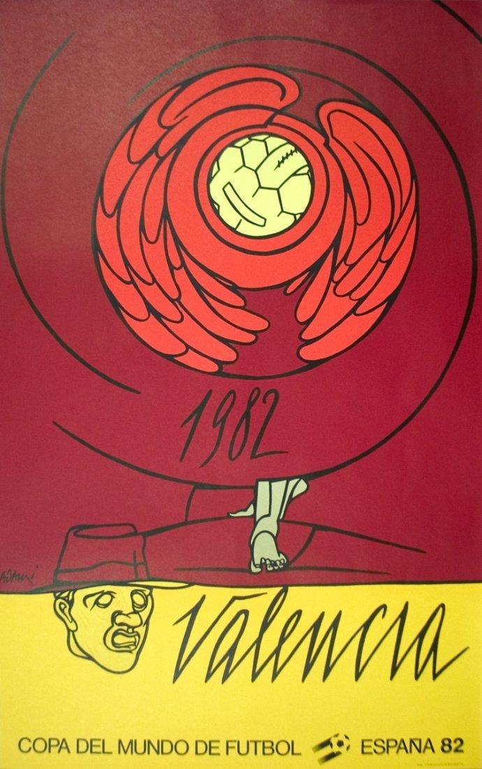1001: 1982 Adami Mundial Valencia Lithograph