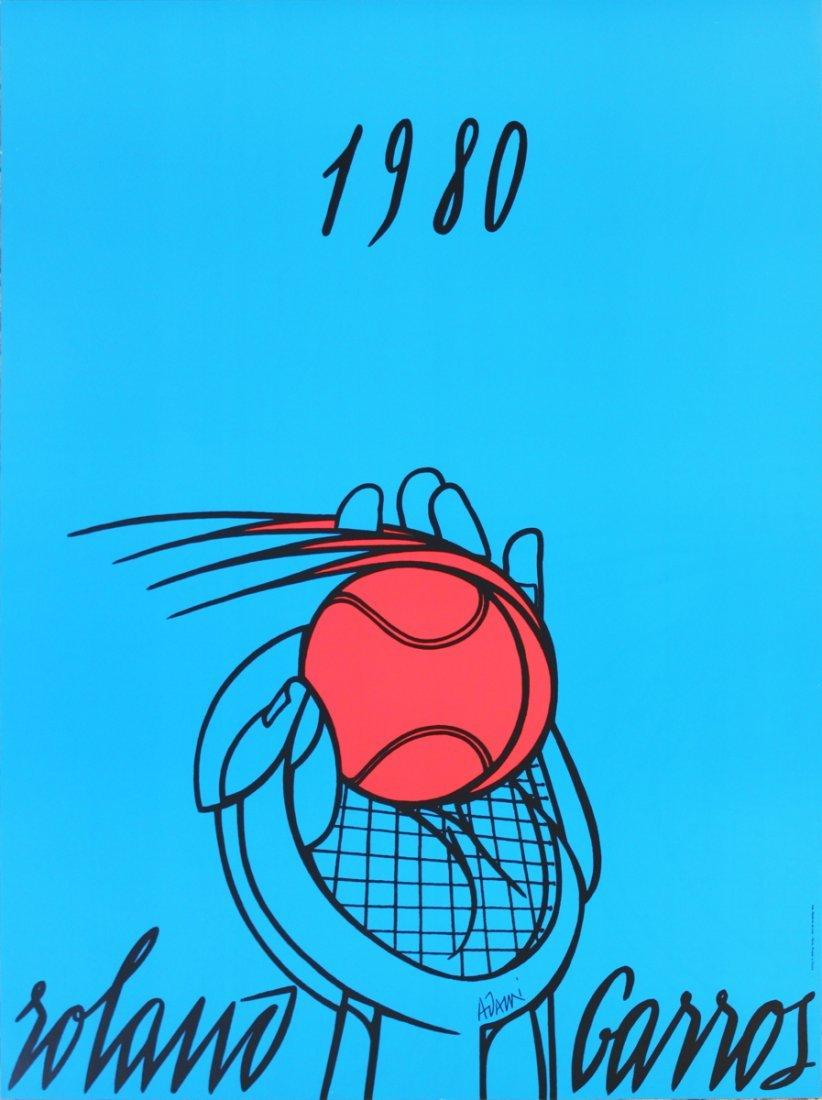 1002: 1980 Adami Roland Garros Poster