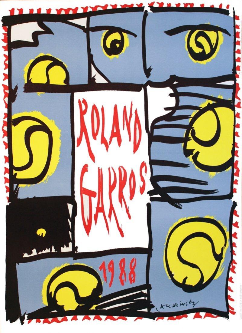 1013: 1988 Alechinsky Roland Garros Poster