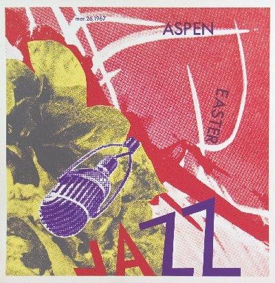 1425: 1967 Rosenquist Aspen Jazz Lithograph