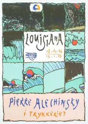 1976 Alechinsky Louisiana Lithograph
