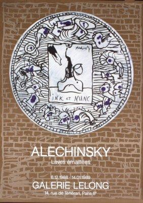 1002: 1989 Alechinsky Gallery Lelong Poster