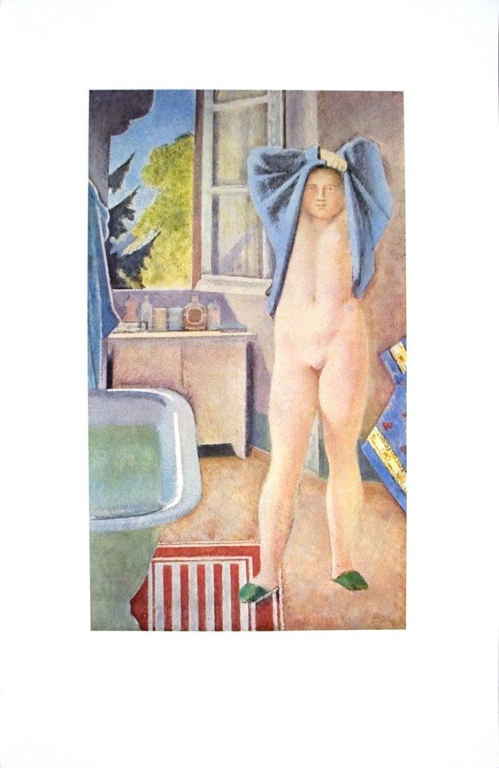 1005: Balthus Jeune Fille Au Drap Bleu Poster