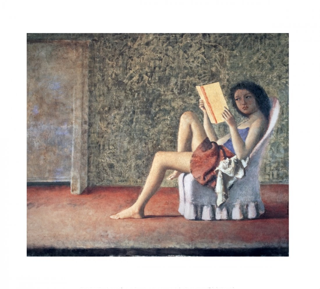 1006: Balthus Katia Reading Poster