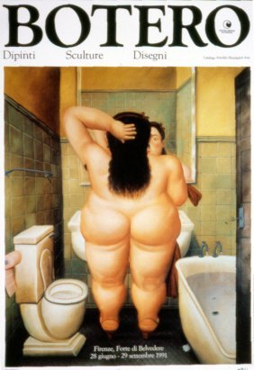 100 Botero The Bath Posters