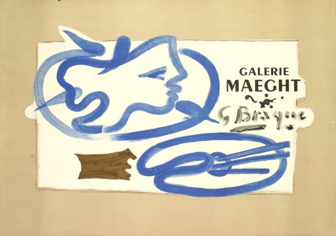 1013: Braque Galerie Maeght Lithograph