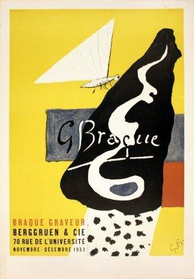 1014: 1953 Braque Graveur Lithograph