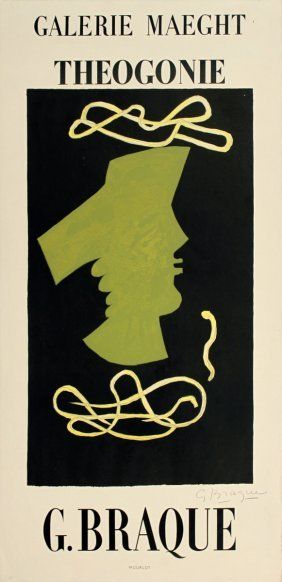 Signed 1959 Braque Theogonie Lithograph