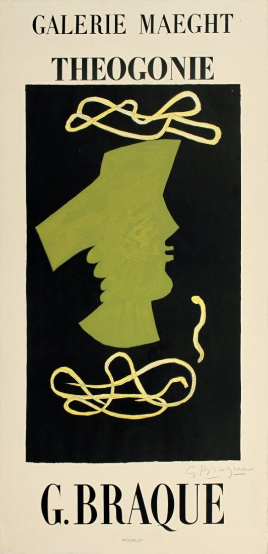 1019: Signed 1959 Braque Theogonie Lithograph