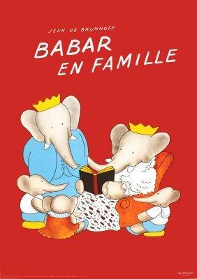 1020: 100 Brunhoff Babar en Famille Posters