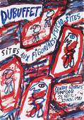 1208 Dubuffet Sites aux Figurines Psychosites Poster