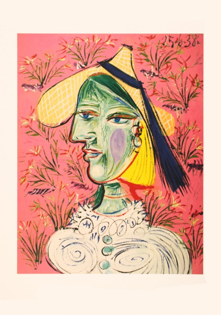 1408: Picasso Femme au Chapeau de Paille Poster