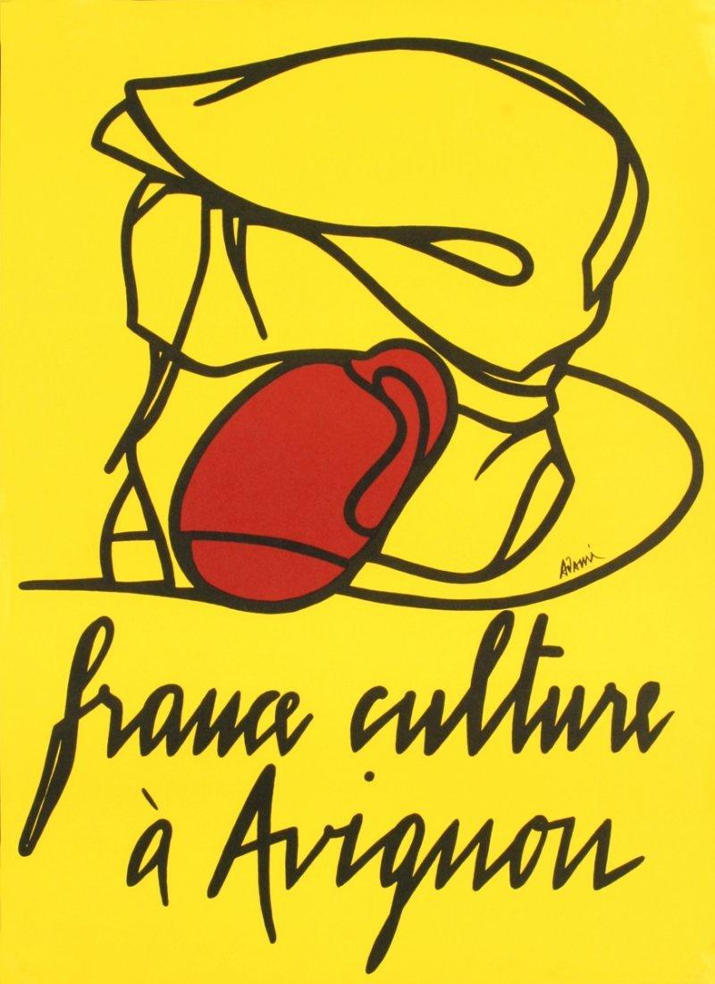 1001: 1977 Adami France Culture a Avignon Lithograph