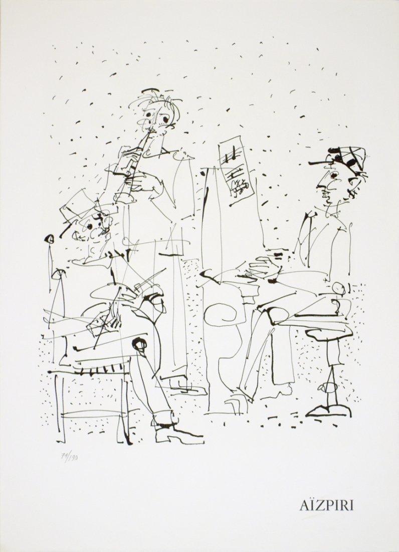 1002: 1970 Aizpiri Les Musiciens Mourlot Lithograph