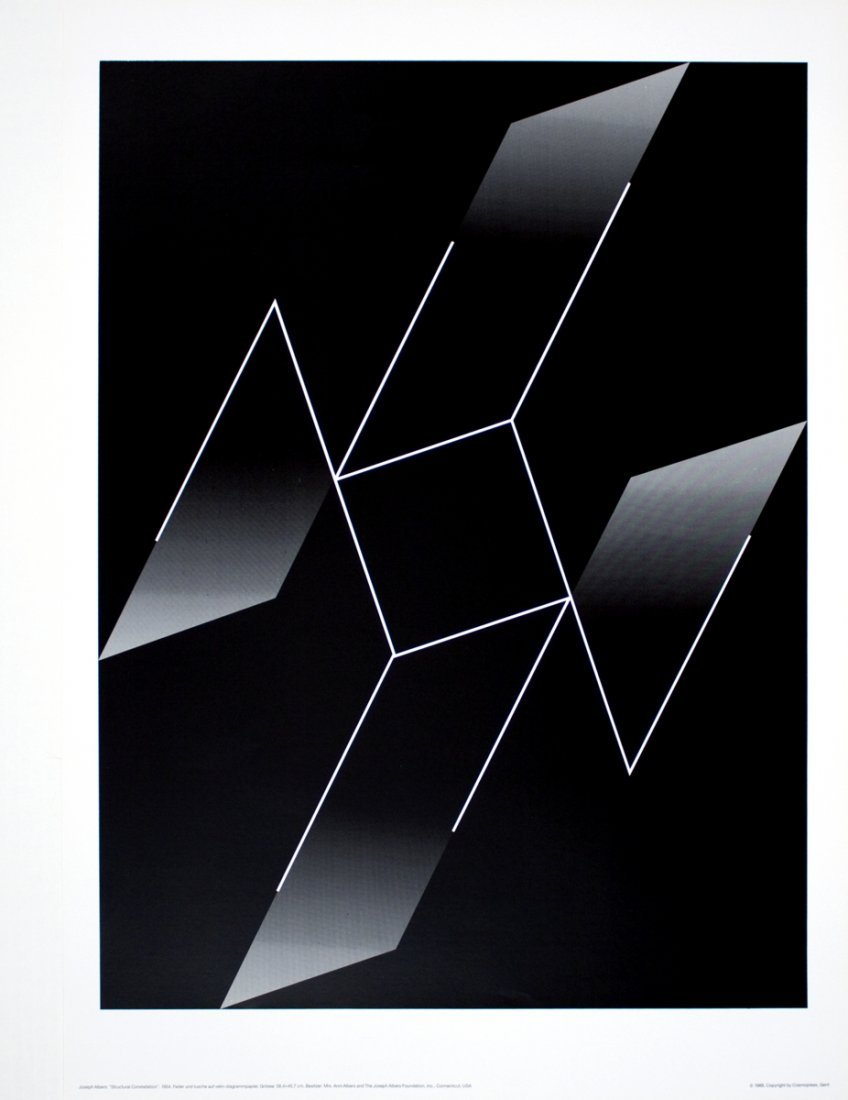 1003: 1988 Albers Structural Constellation Poster