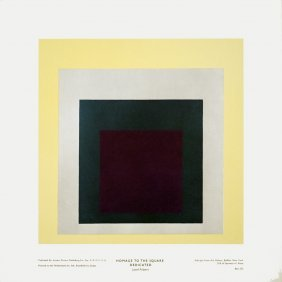 1004: Albers Homage to the Square Dedicated Poster