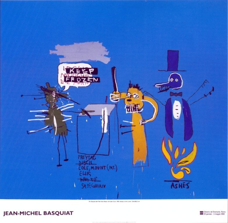 1022: 25 Basquiat The Dingoes with Brain & Gum Posters