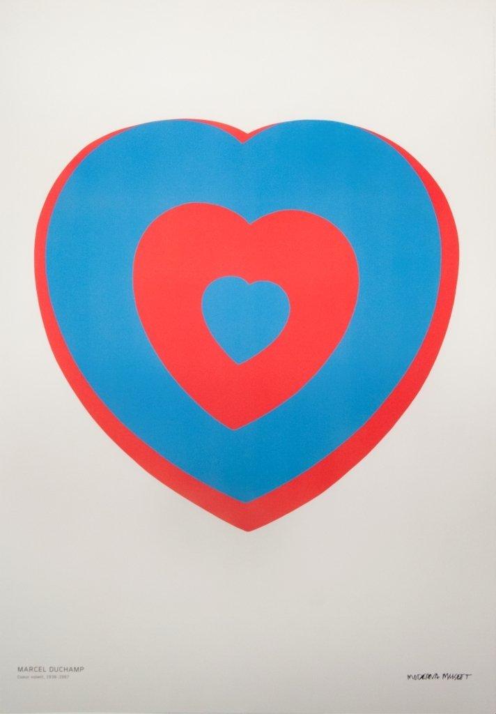 1103: 2012 Duchamp Coeur Volant (detail) Poster