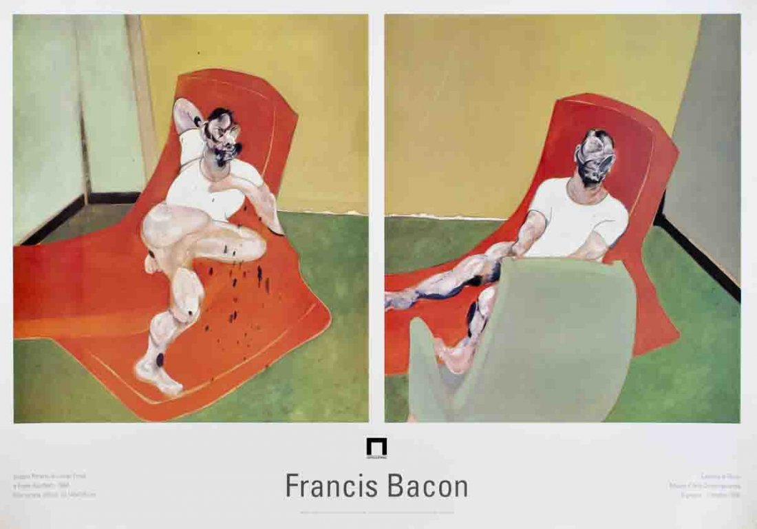 Bacon Double Lucian Freud & Frank Auerbach Poster